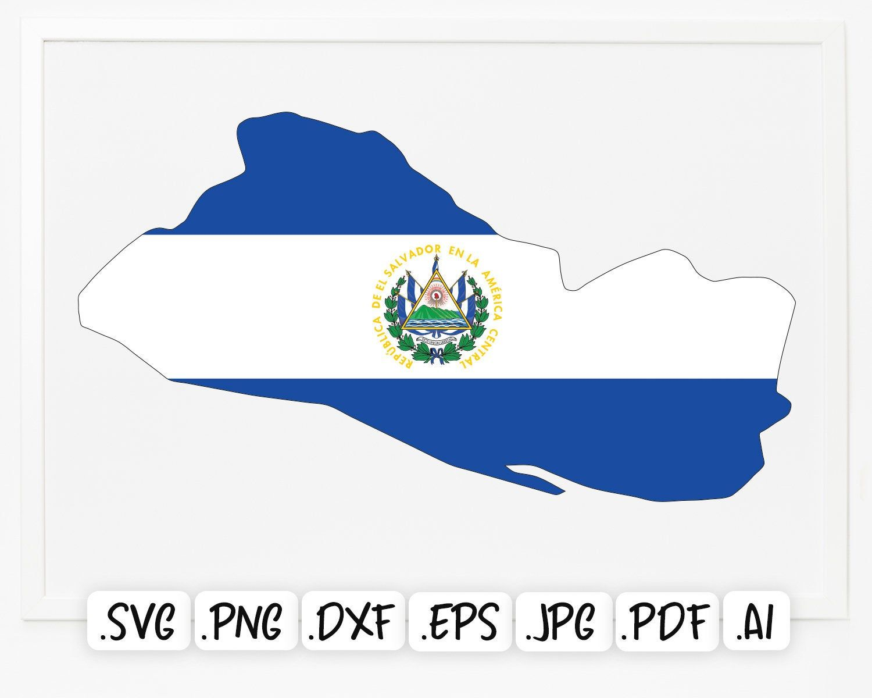 Flag Map Of El Salvador Svg Design Europe Country Map El Etsy Svg Svg Design Country Maps