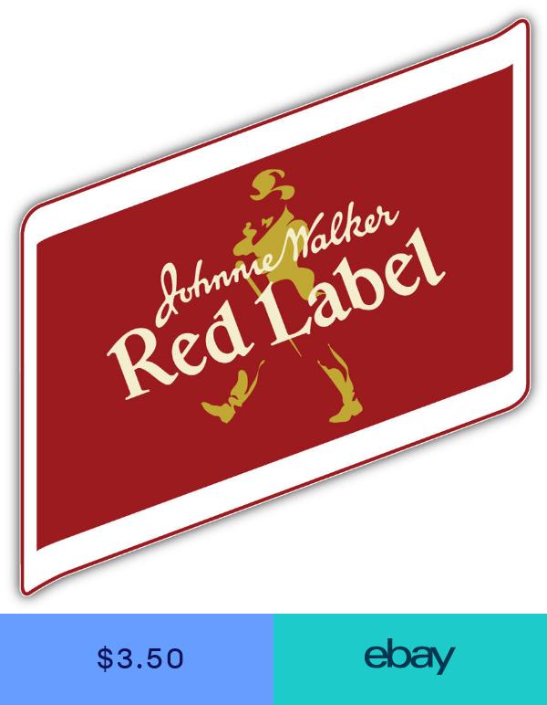 Johnnie Walker Red Label Logo Sticker Car Bumper Decal 3 5 Or 6 Johnnie Walker Red Label Johnnie Walker Red Johnnie Walker Logo
