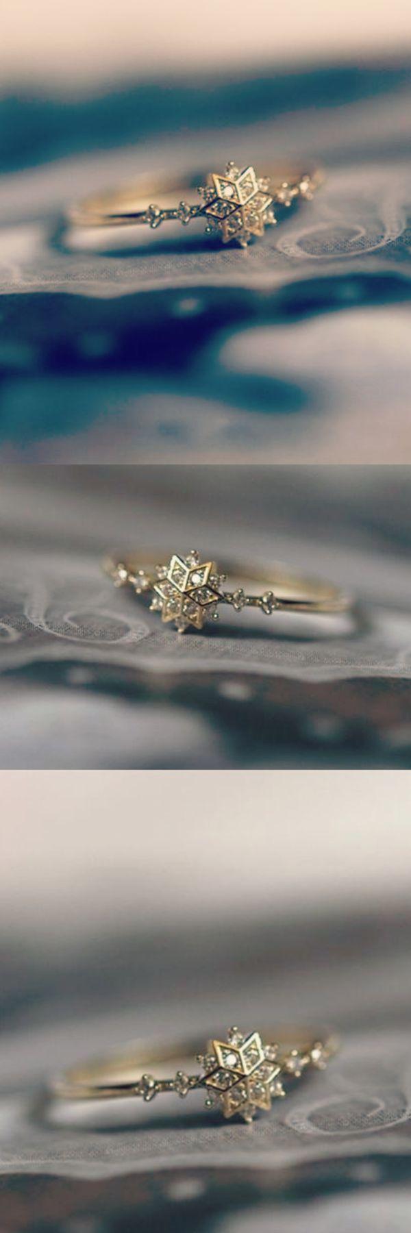 Lindo anillo de copo de nieve – damenfrisuren