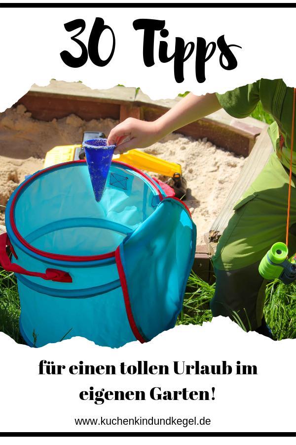 Spielideen für draußen - 30 Ideen für den Urlaub im Garten