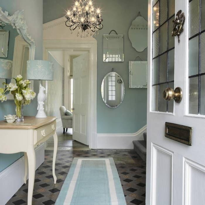 48fef4445a8 Recibidor josette azul verdoso  pasillos y vestíbulos de estilo de ...