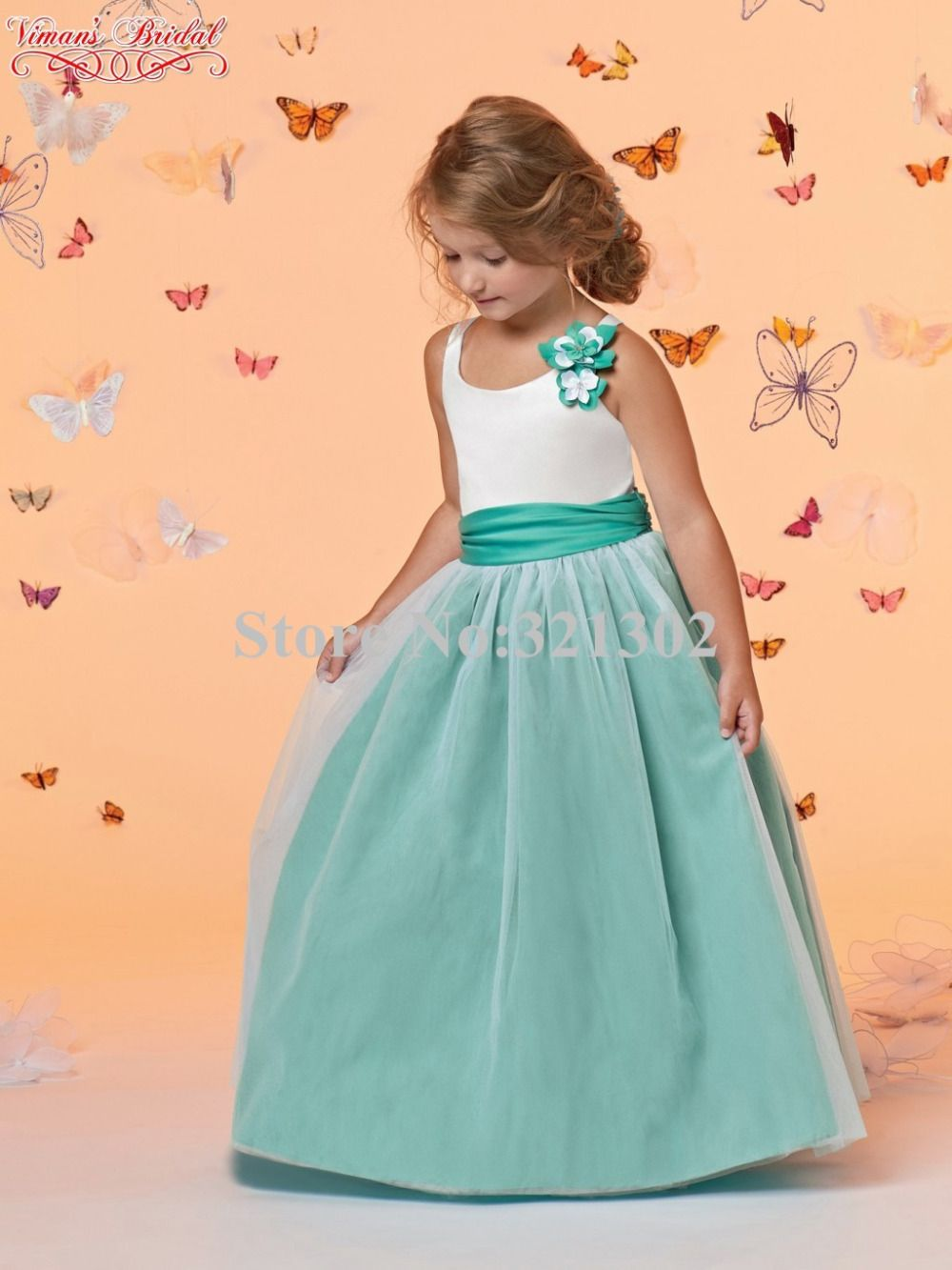 Click to buy 2015 white and green kids dresses for girls scoop click to buy 2015 white and green kids dresses for girls scoop ombrellifo Image collections