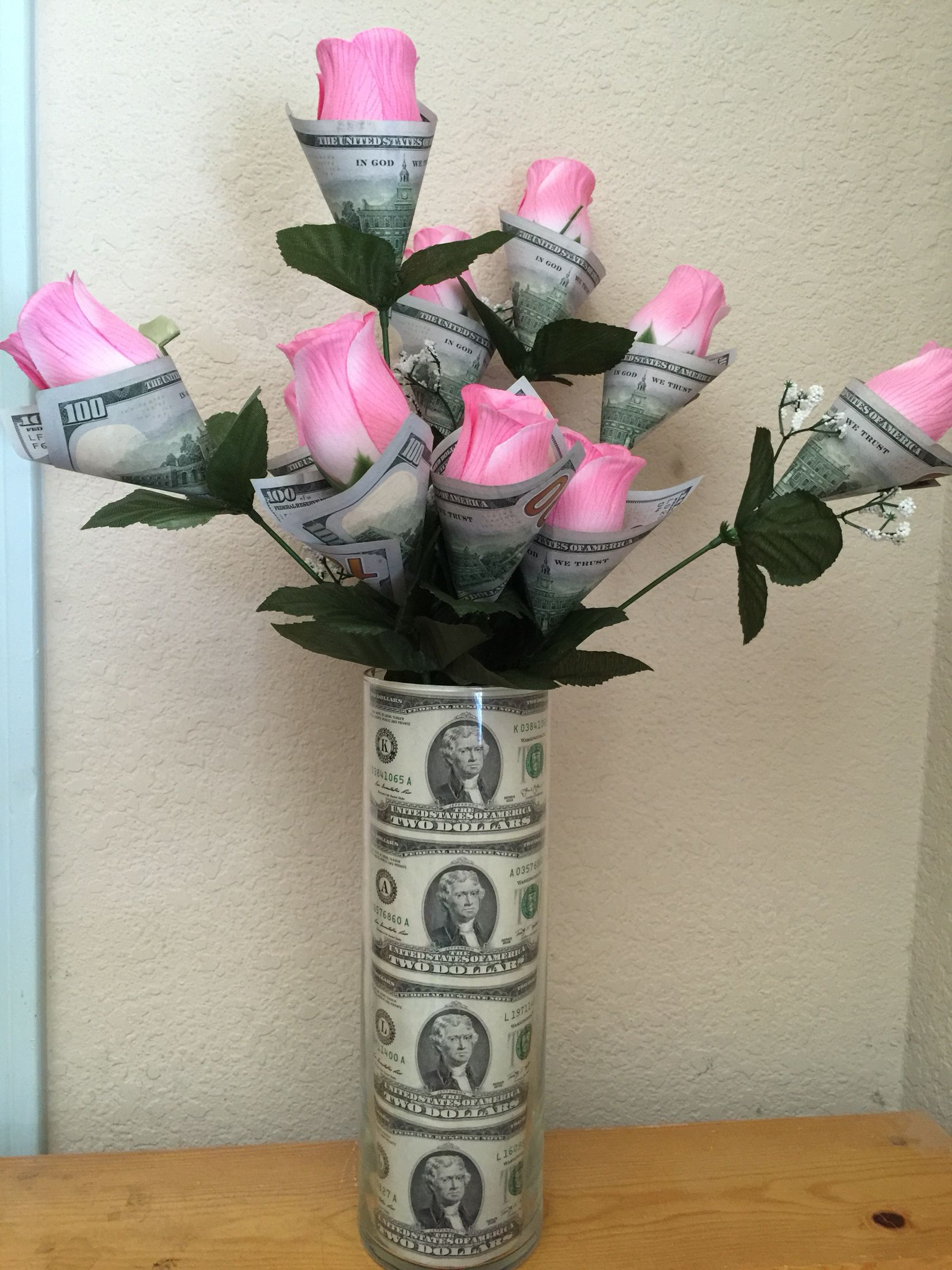 Money Flowers Money Flowers Money Bouquet Creative Money Gifts