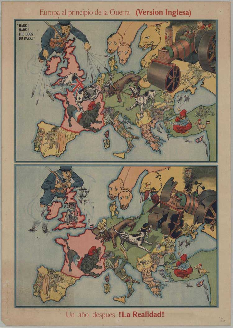 A comic map of Europe at the