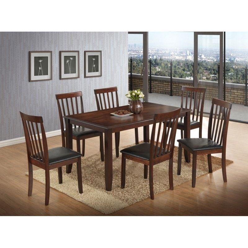 best quality furniture cappuccino dining set solid wood upholstered rh pinterest co uk
