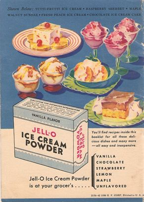 Back of delicious ice cream book weird cookbooks and food ads jello ice cream powder i dont think ive ever heard of it probably its not much different from pudding mix maybe just sugar and flavouring ccuart Image collections