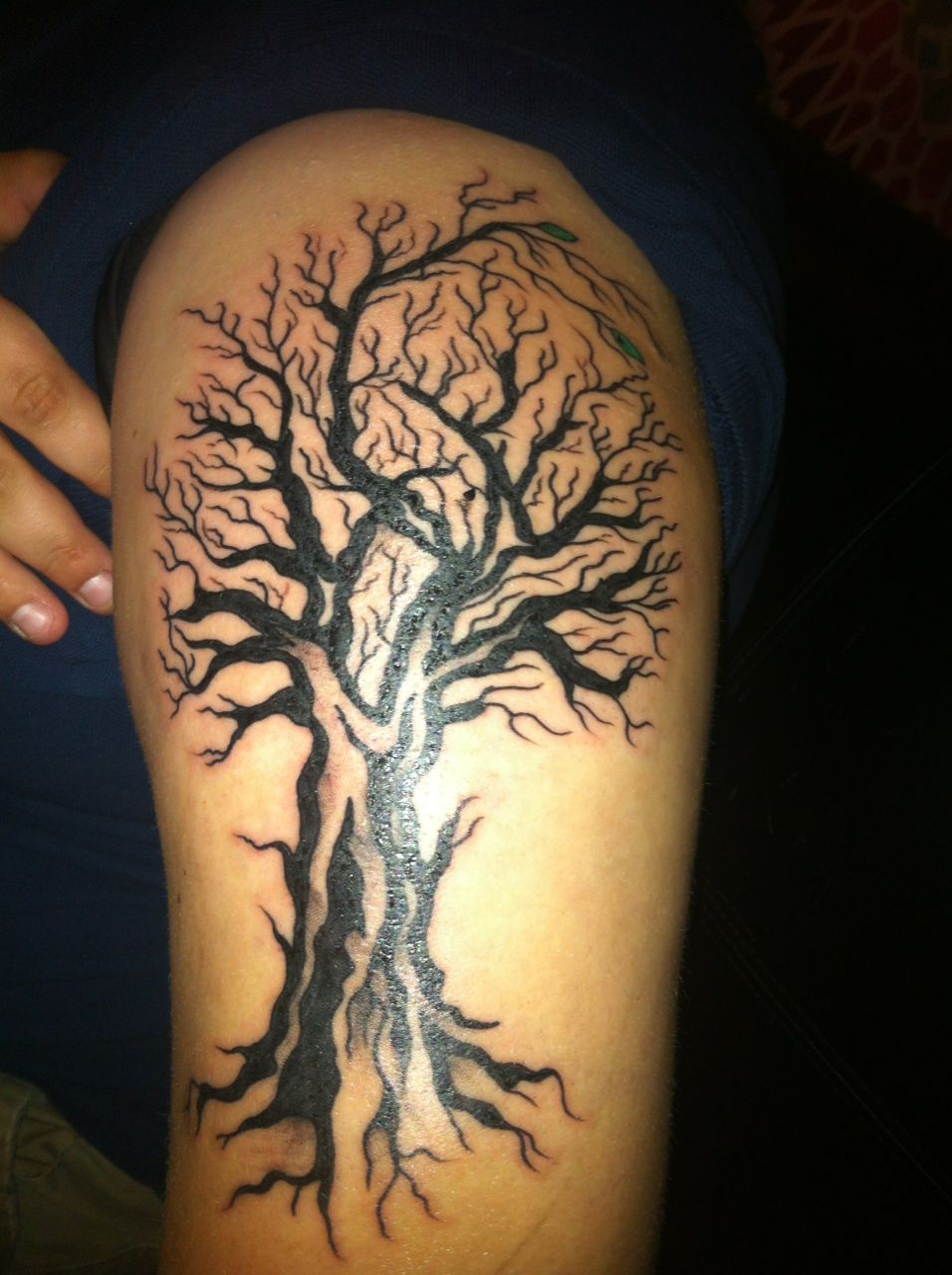 Oak Tree With Roots Tattoo: Tree Tattoo Meaning, Dead Tree Tattoo