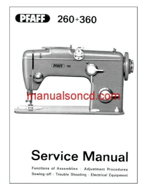 pfaff 260 360 sewing machine service manual sewing machine manuals rh pinterest com pfaff 262 sewing machine manual pfaff 96 sewing machine manual