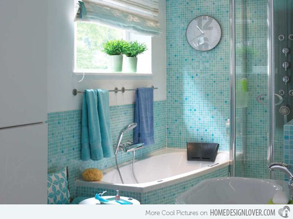 Turquoise Interior Bathroom Design Ideas Home Design Home - Turquoise bath towels for small bathroom ideas