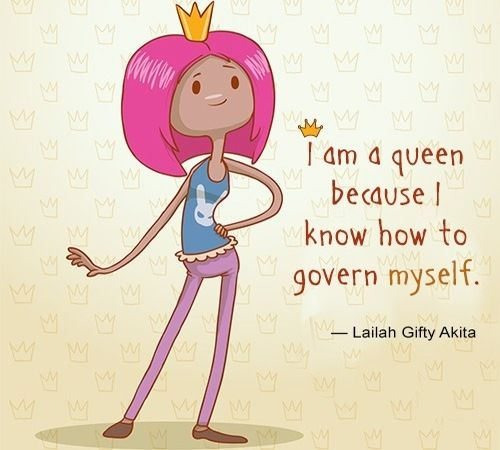cute quote about being a queen