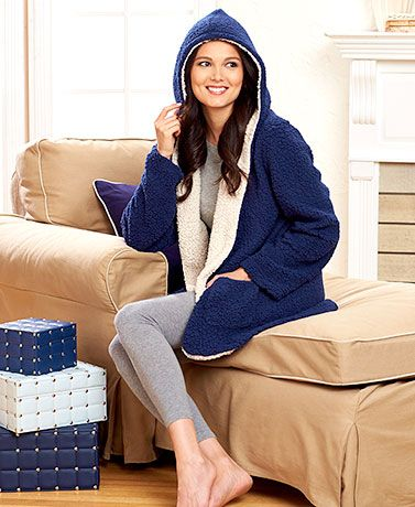 Women's clothing just got a lot cozier! This sherpa lined cardigan ...