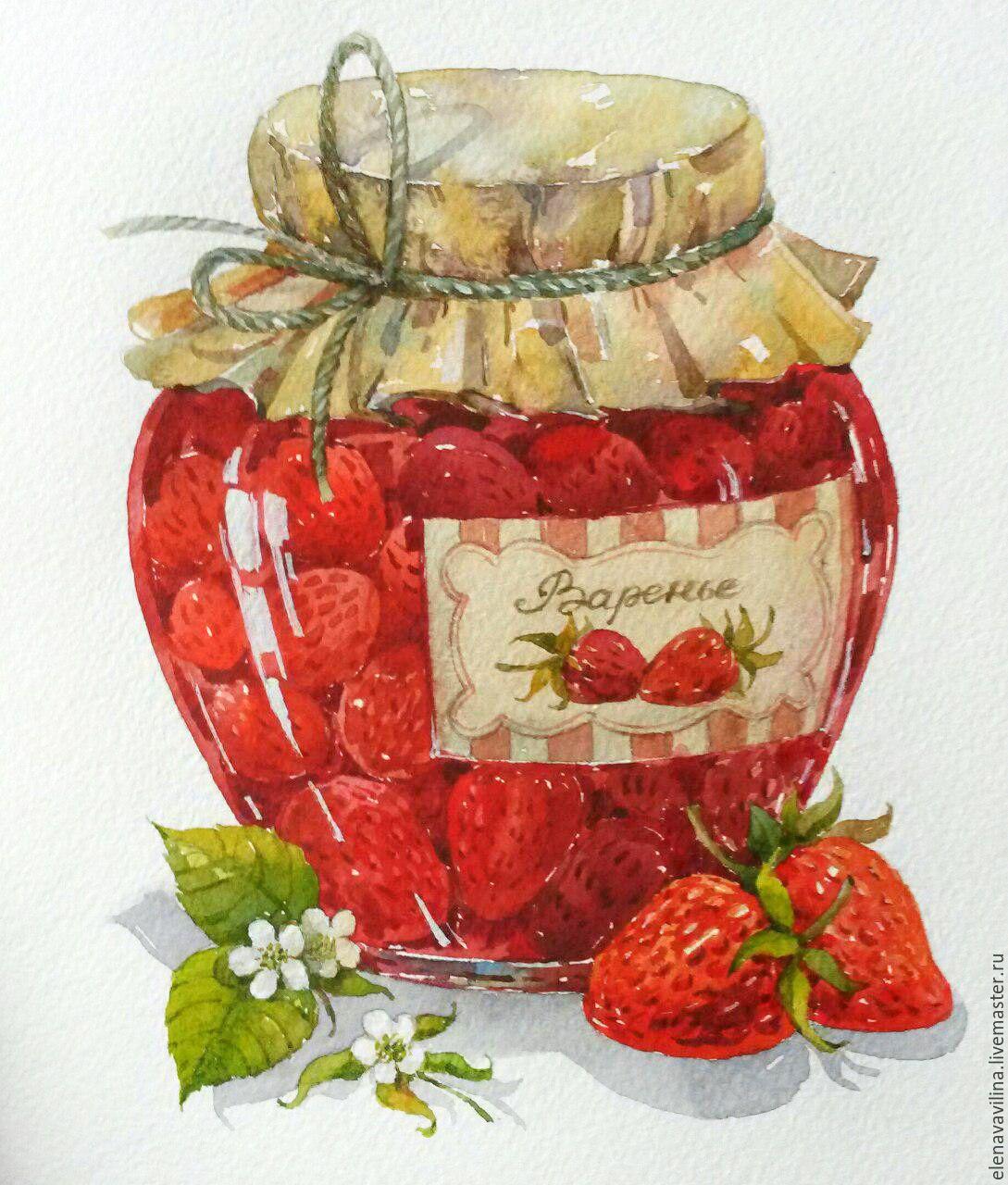 Картинки с баночкой варенья
