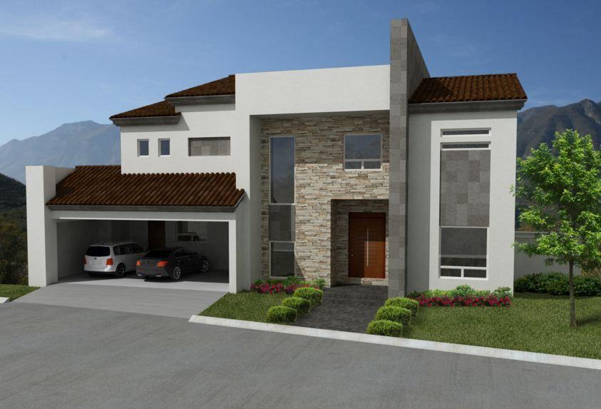 Mejor color para fachada de casa de dos pisos for Casas residenciales minimalistas