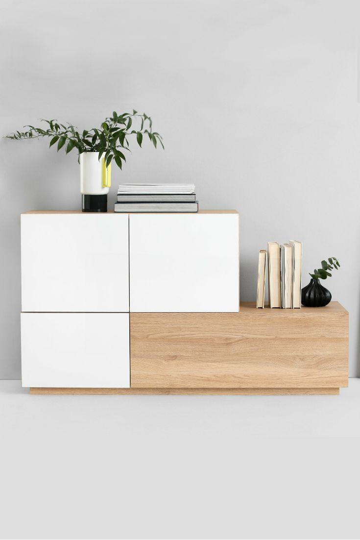 Modernes Design Sideboard Stockholm 200cm Weiss Wendbare Front Sonoma Eiche Da White Sideboard Sideboard Decor Sideboard Designs