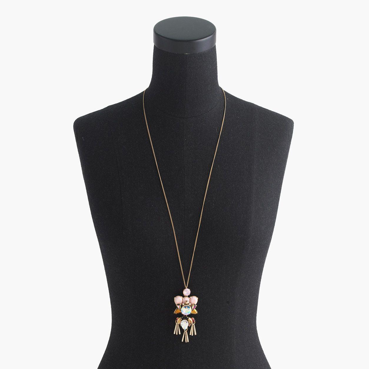 Dragonfly pendant necklace jewelry shop jcrew momowardrobe
