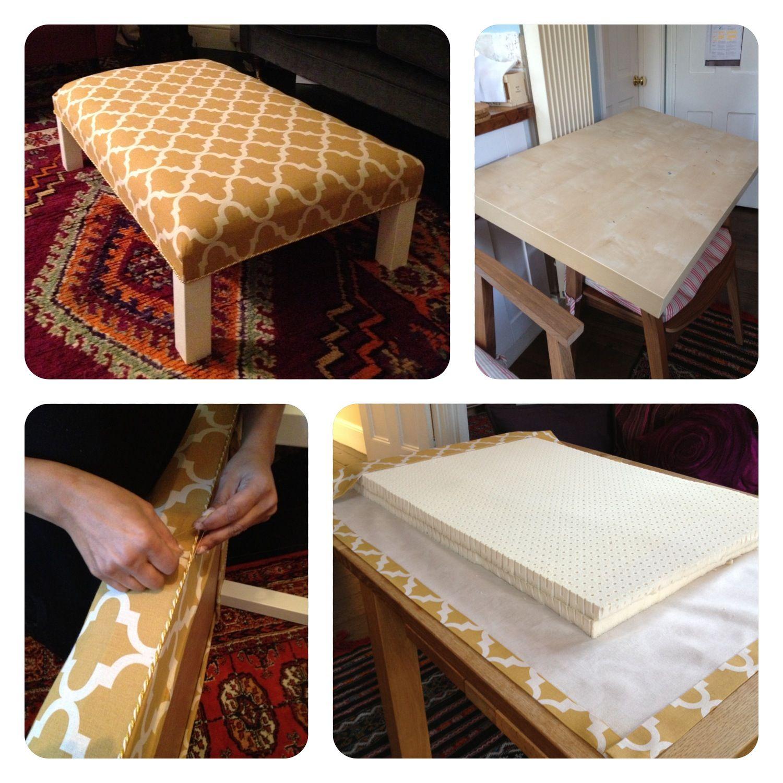 Ikea Hack: Lack Table Turned Into An Ottoman.