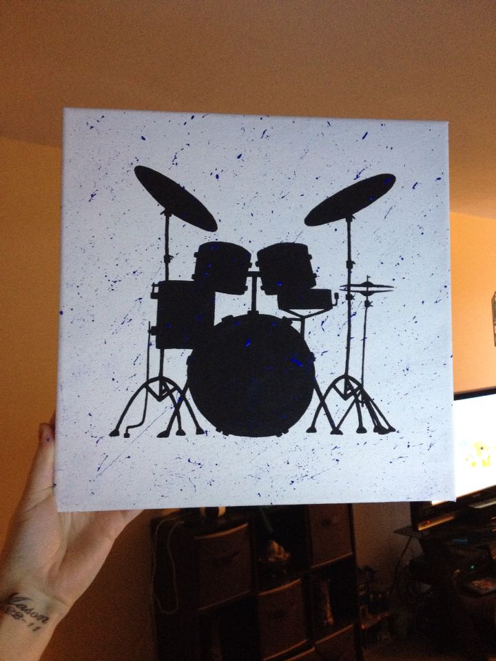 Drum Set Painting Home Made Drums Art Canvas Art Painting Modern Art Paintings