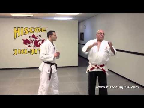 Defense against a hook punch - Ed Hiscoe Hanshi - Hiscoe Jiu-Jitsu - YouTube