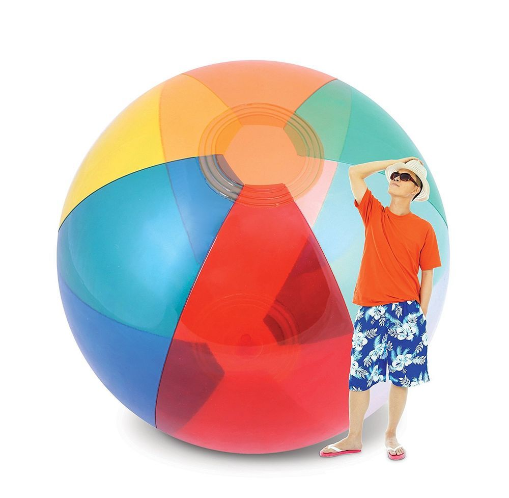 Pool Water With Beach Ball giant beach ball humongous inflatable beach ball colorful water