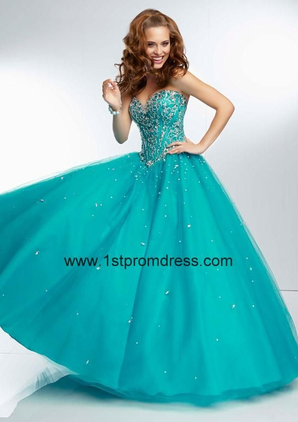 2014 Quinceanera Dresses, 2014 Turquoise Sweetheart Beaded ...
