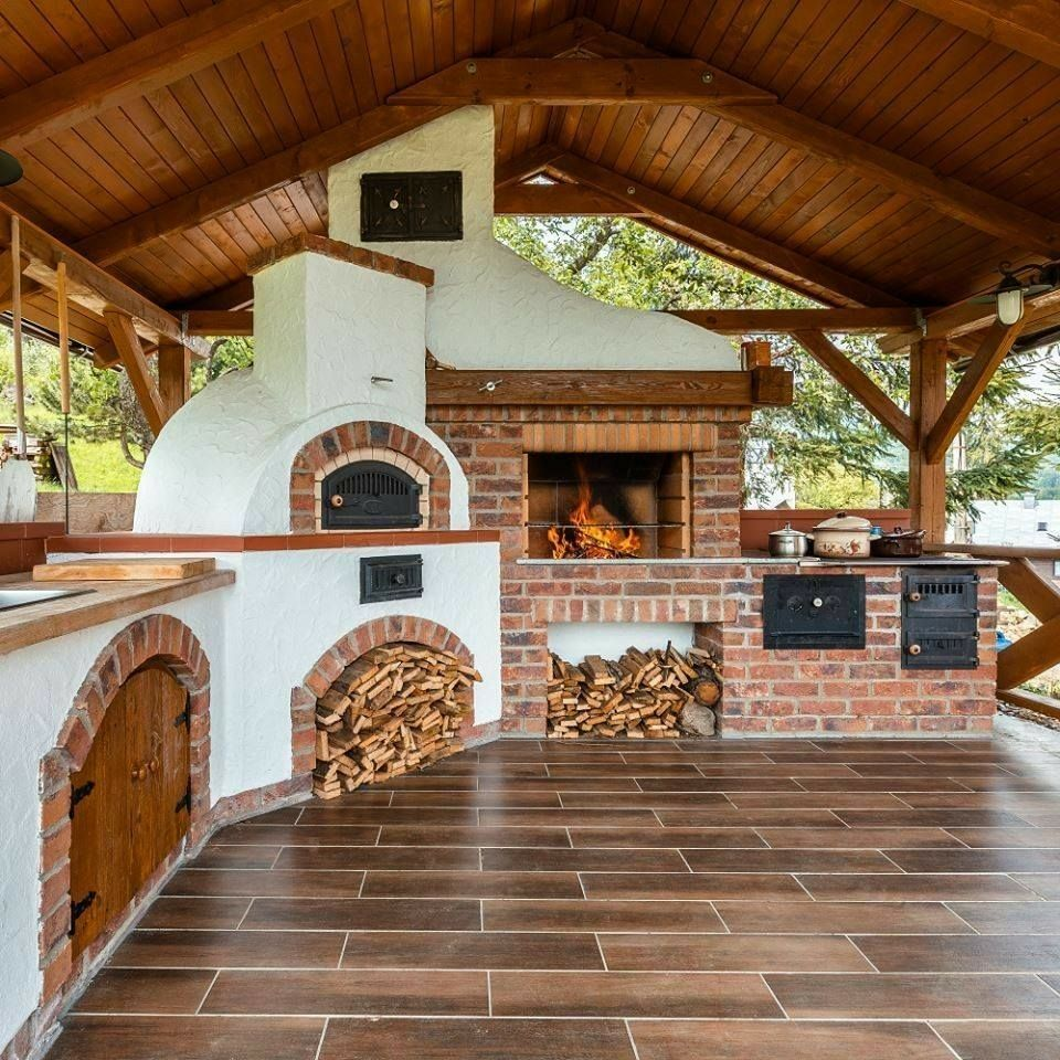 My spanish house add on fireplace bbq patio ideas for Cocina barbacoa exterior