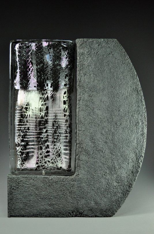 """Custom Made """"Baja Series"""" Paintings In Glass And Concrete"""