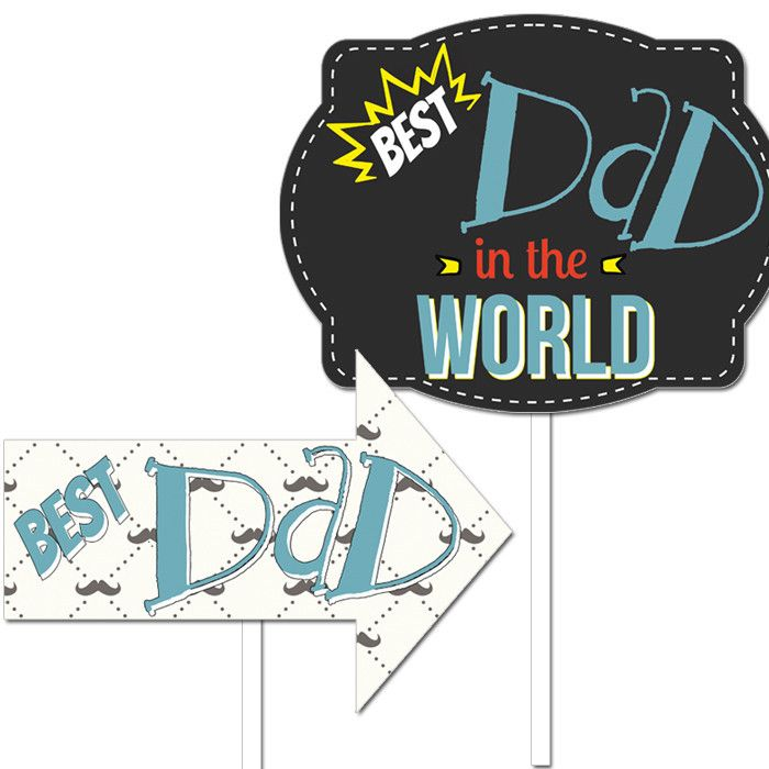 wedding photo booth props printable%0A Father u    s Day  Photo Booth Props    pack