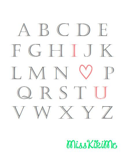 ABC's I love you printable
