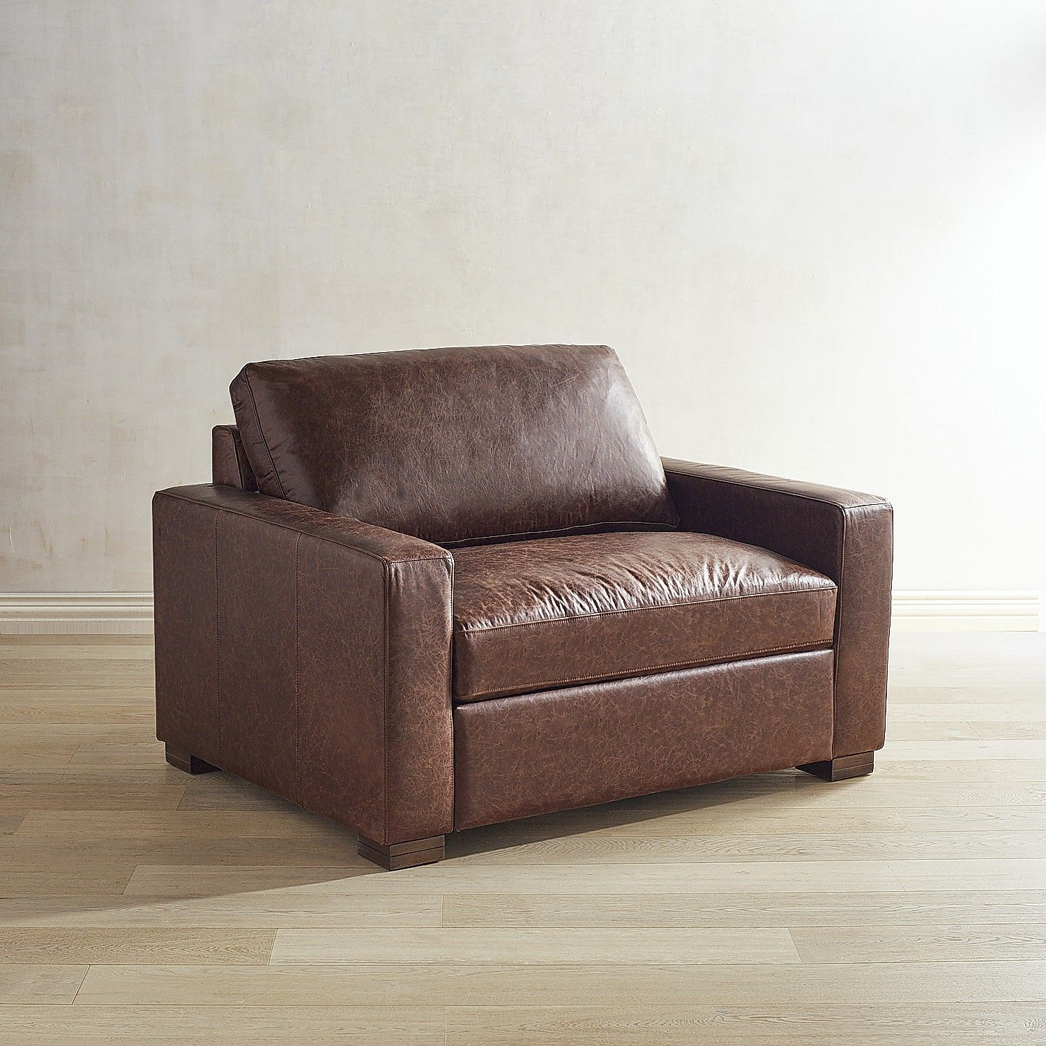 Magnolia Home Southern Sown Leather Chair & A Half