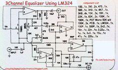 3 channel equalizer using lm324 in 2019 3 channel equalizer rh pinterest com