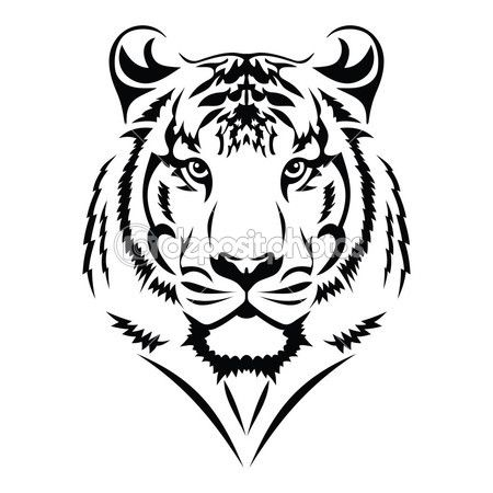 Stock Vector Images From The Best Contributors Depositphotos Tribal Tiger Tattoo Picture Tattoos Tribal Tiger