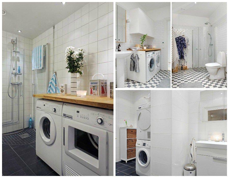 Instalar la lavadora en el ba o 1748 laundry space for Lavadero de bano