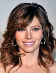 Above The Shoulder Haircuts With Side Bangs For Women Curly Hair
