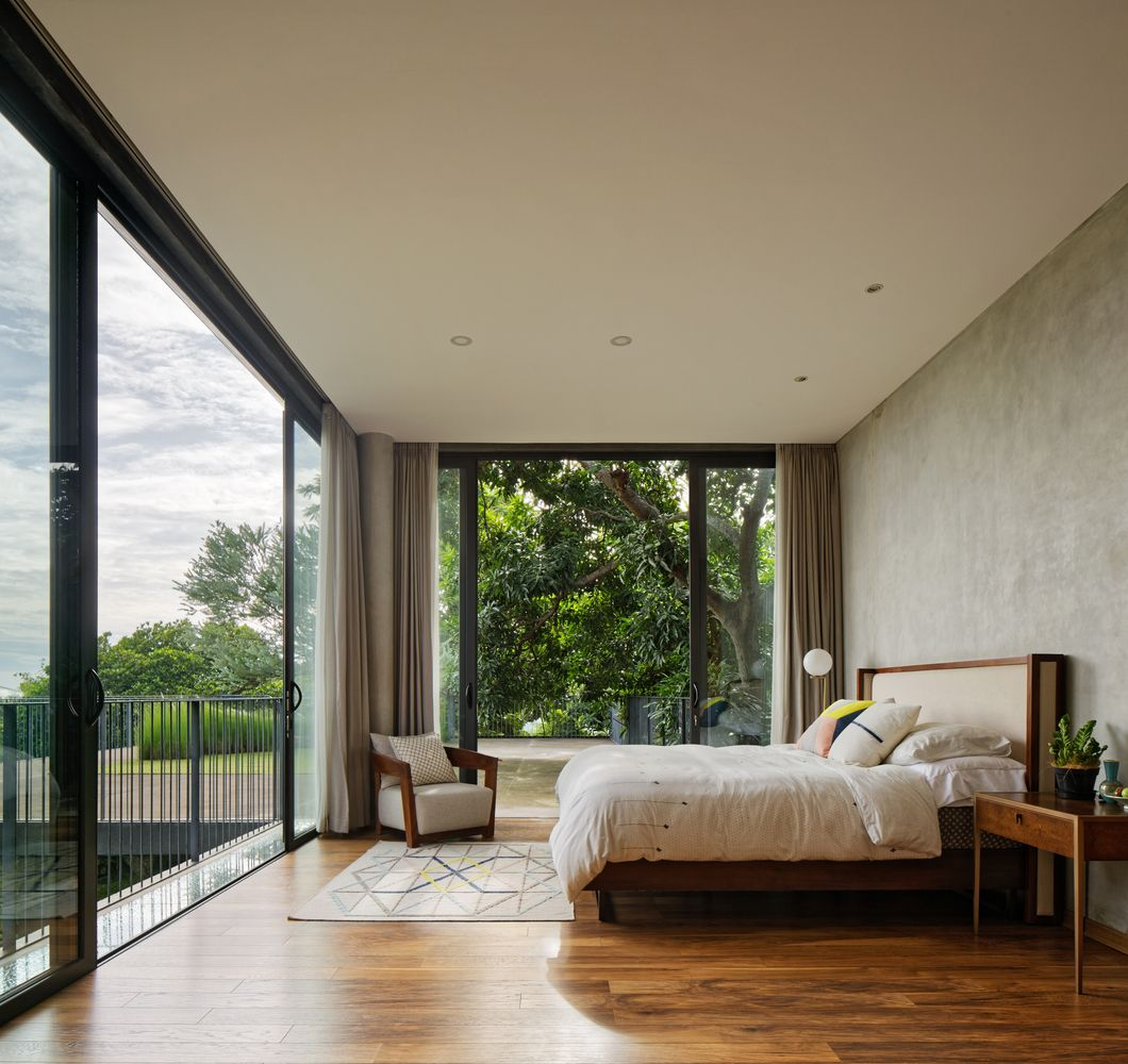 The bedrooms open up to the views