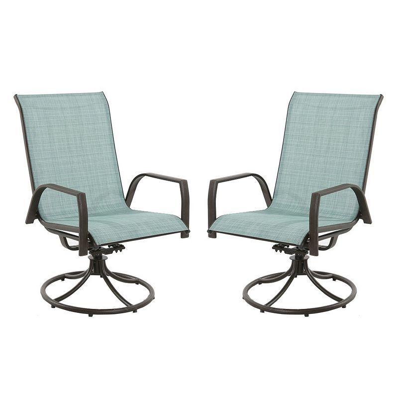 outdoor sonoma goods for life u201e coronado swivel sling patio chair 2 rh pinterest com