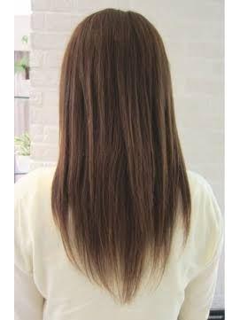 段カット ロング ストレート の画像検索結果 髪 色 レイヤーヘア ヘア
