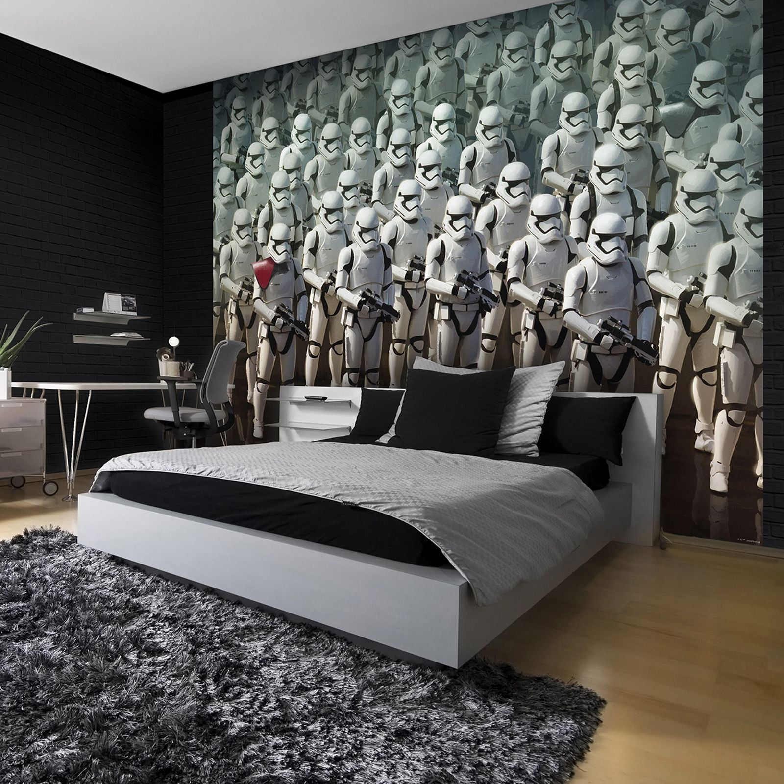 Star wars stormtrooper wall mural dream bedroom star for Boys room wall mural