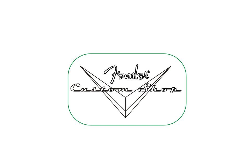 fcs012 fender custom shop headstock decal