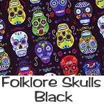surgical caps scrub caps folklore skulls black