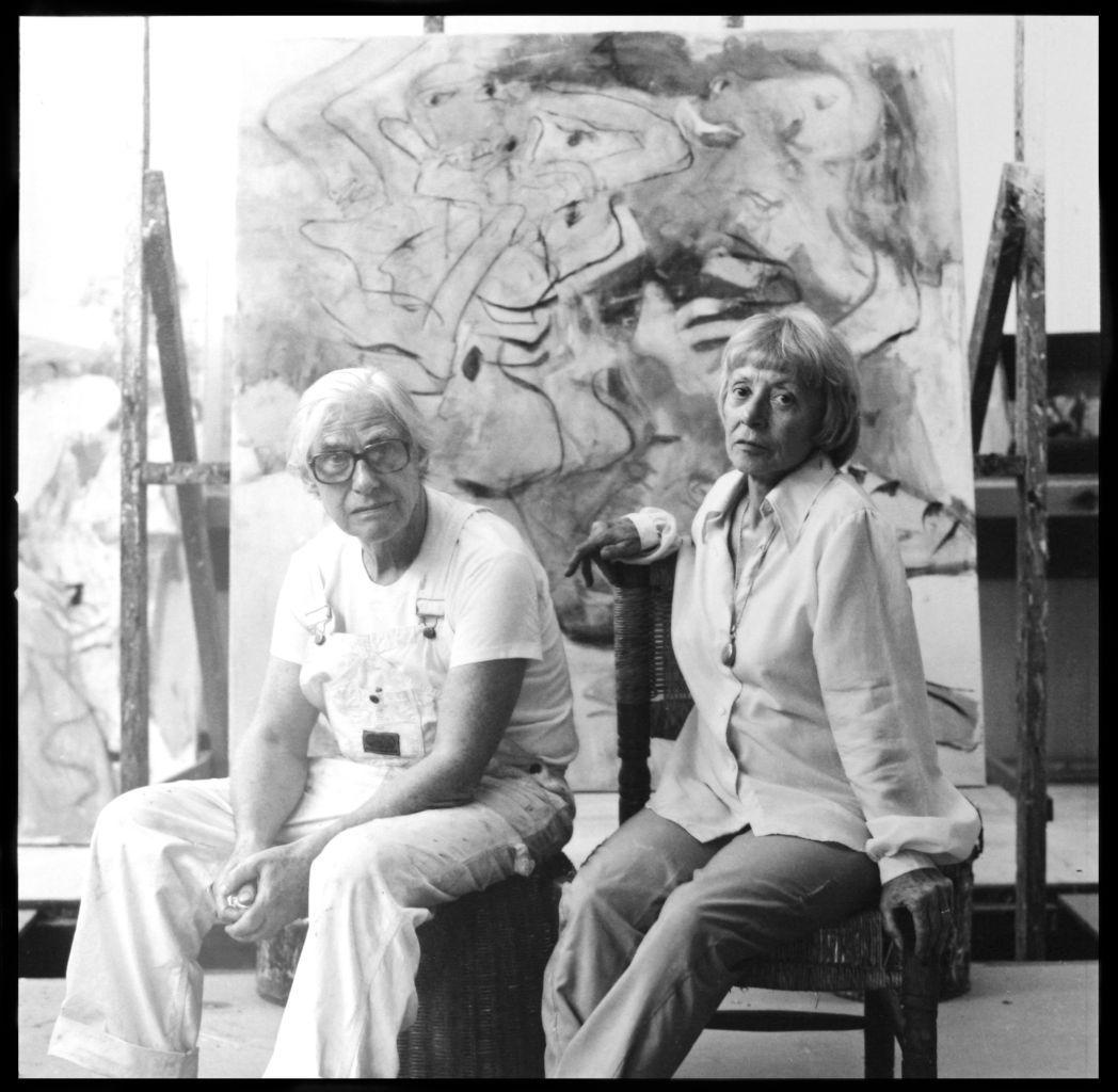 ELAINE and WILLEM DE KOONING 1953 by HANS NAMUTH Kunst-Postkarte