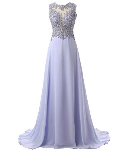 585e3c7f9468d0 Callmelady Chiffon Long Prom Dresses 2017 Beading Evening... https   www