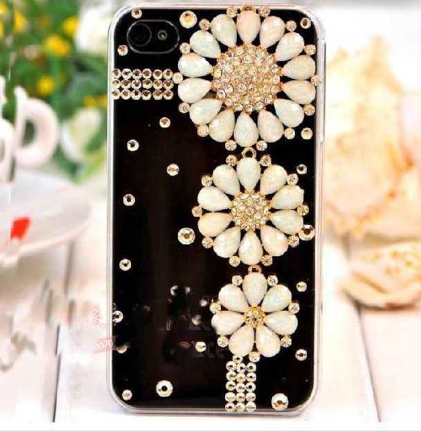 Min 15 Mixed Order Cell Phone Case Diy Charms Resin Flower Daisy