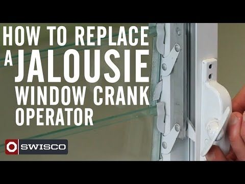 How to replace a jalousie window crank operator  SWISCO.com DIY replacement hardware source  sc 1 st  Pinterest & Window Crank Operator | Window Hardware and Sunroom