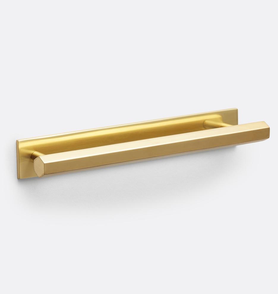 2 Vintage NOS Brass Plate Die Cast Door Stops White Rubber Bumper  Floor Mount