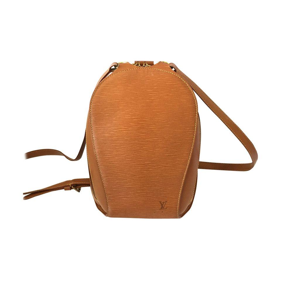 96a7a0831ccc Leather · Louis Vuitton Cognac Ellipse Epi Backpack 1999