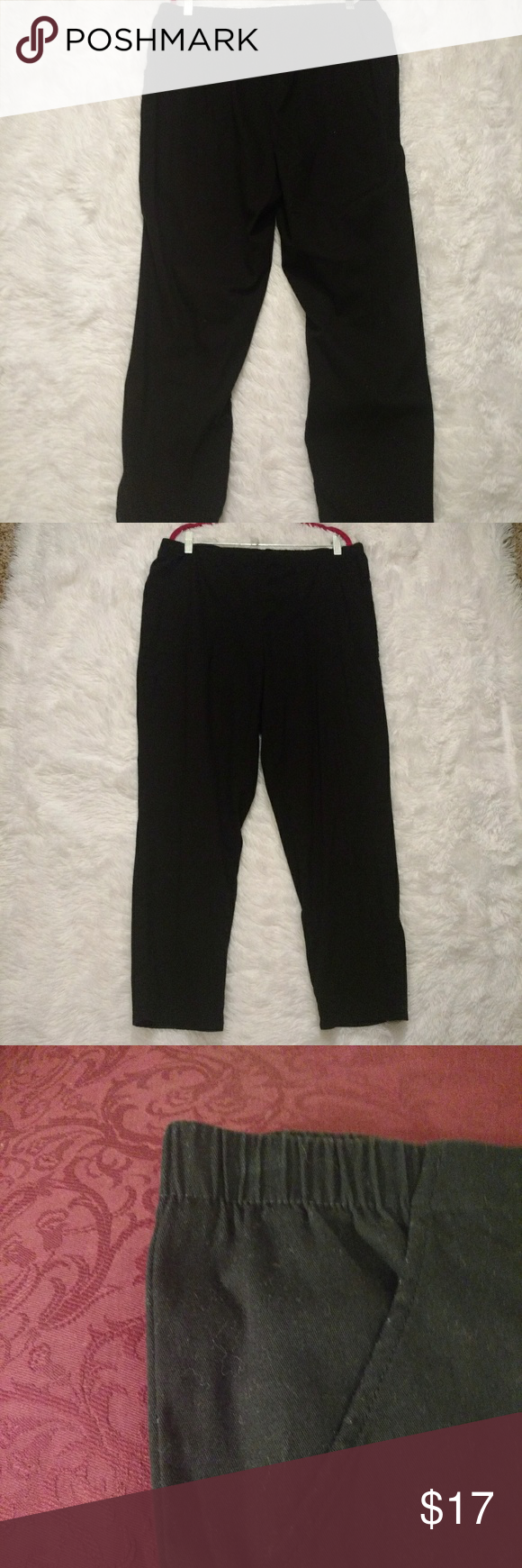 90c02fa4db3a4 Just My Size 2-Pocket Flat-front Black Pants SZ 2X This is a pair of 2-pocket  flat-front dress pants with an elastic waist and comfort stretch.