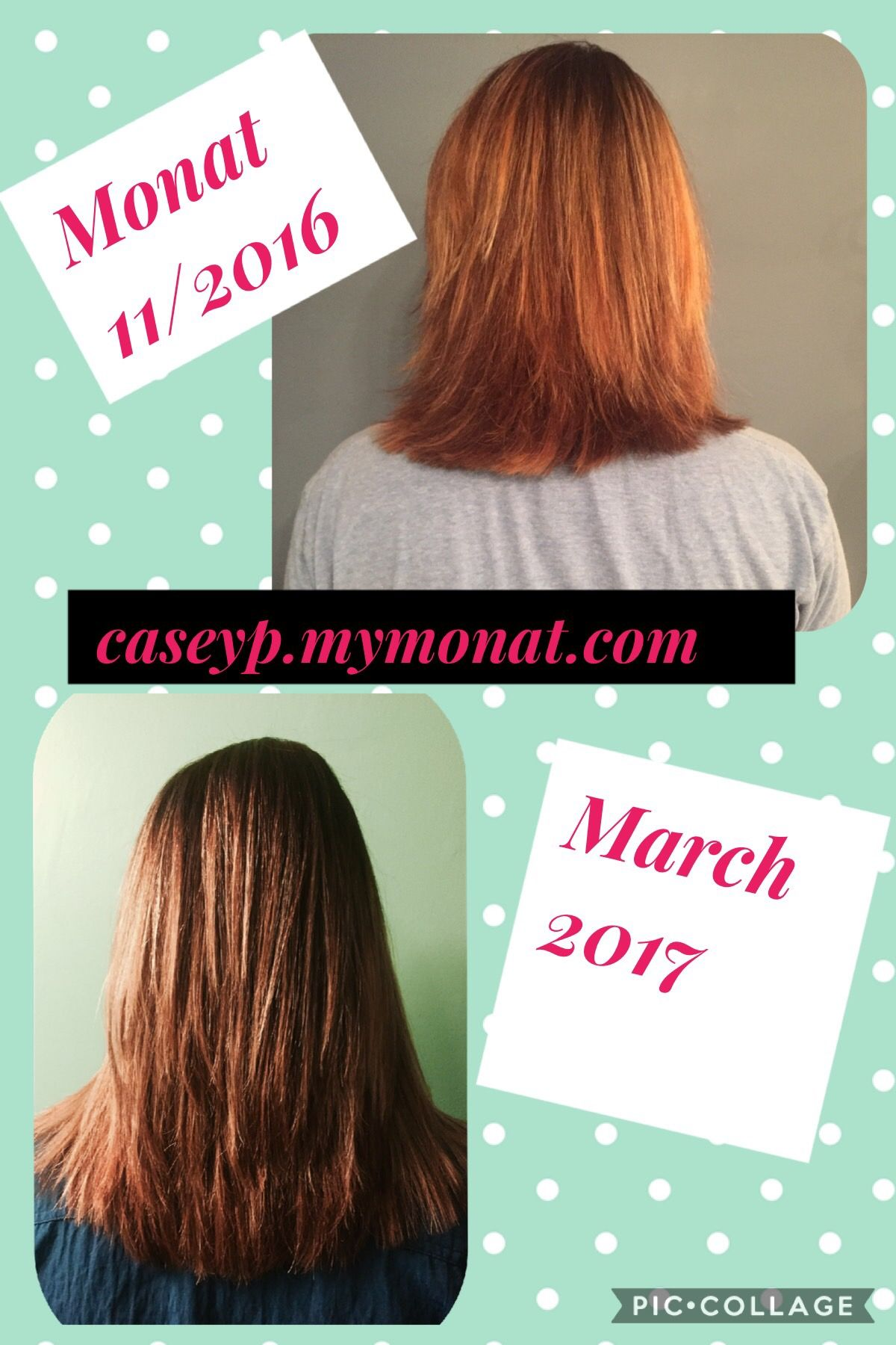 My results with Monat!!!! Thicker, healthier, longer, more manageable hair....