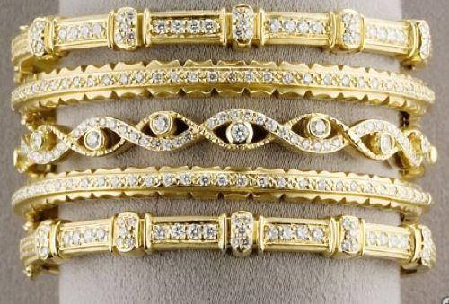 Doris Panos stackable diamond bangles