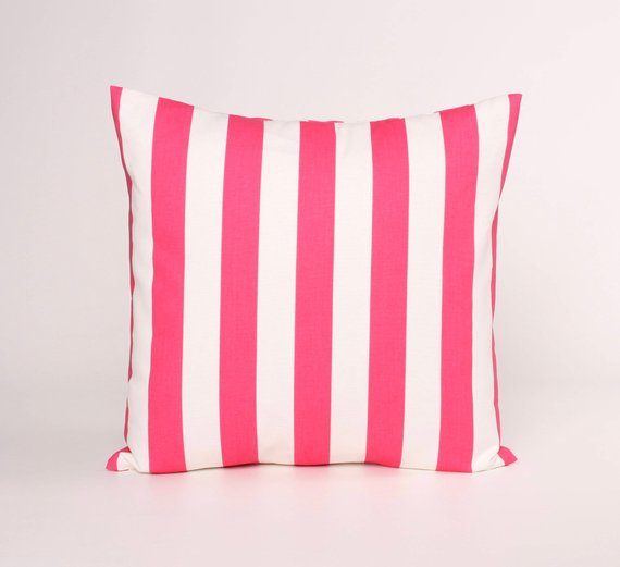 Candy Pink Throw Pillow Cover. Pink