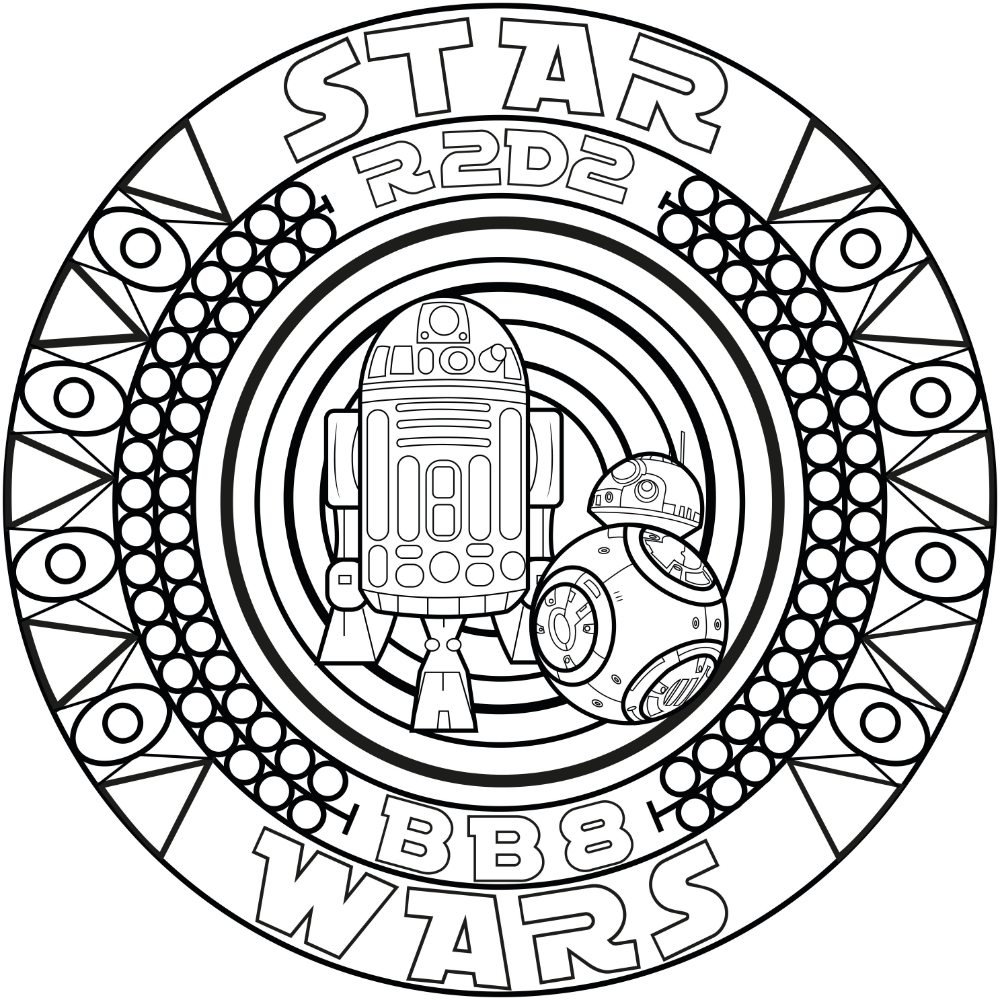 Star Wars Coloring Pages For Adults Mandala Malvorlagen Malvorlagen Geburtstag Malvorlagen